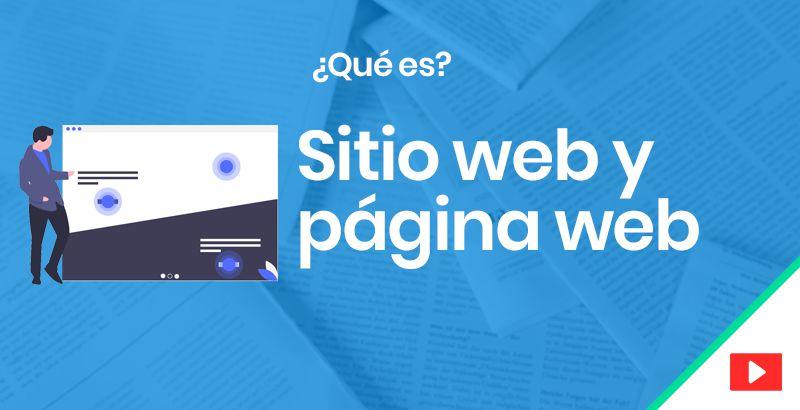 Sitio web y página web
