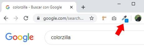 como se utiliza Colorzilla para averiguar el color de una página web