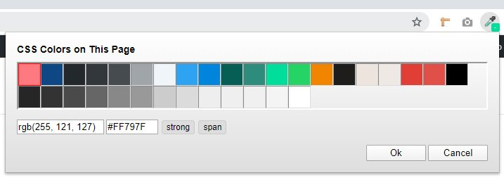 saber los colores css de una página web