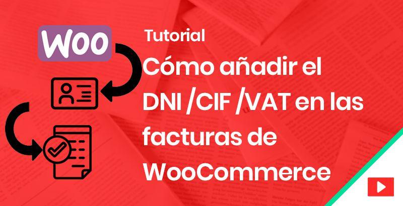 Añadir DNI CIF VAT en Woocommerce