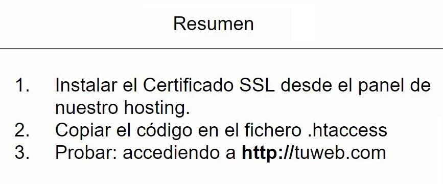 Pasos para instalar el certificado ssl en wordpress