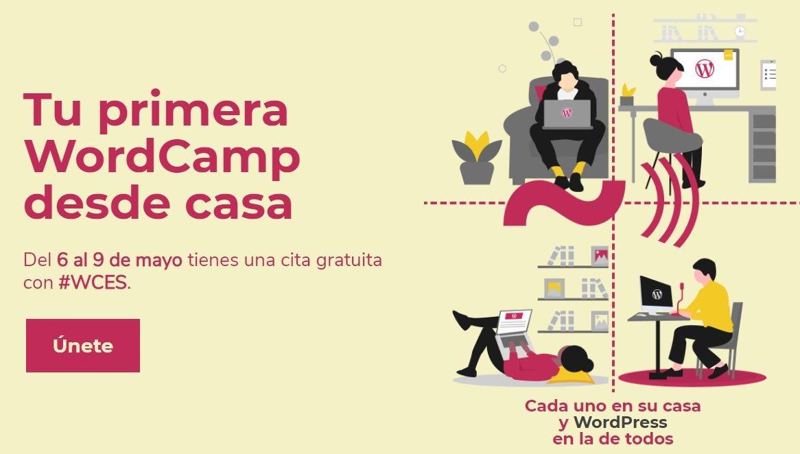 WorCamp Esapña 2020 tu primera wordcamp desde casa