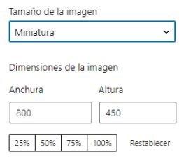 WordPress 5.6 - selector de imágenes