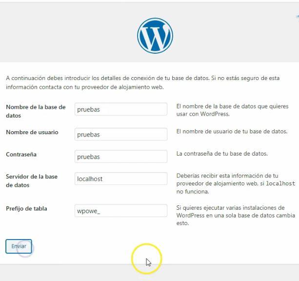 instalar paso a paso WordPress en local con XAMPP
