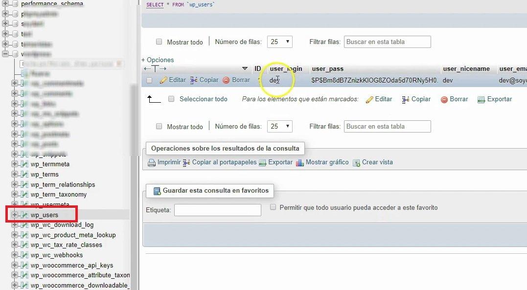 editar el usuario para cambiar la contraseña en wordpress